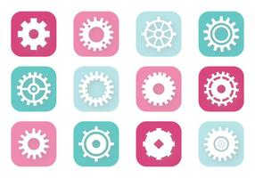 Clock Gears vector