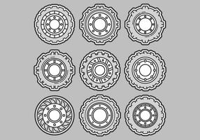 Icônes vectorielles des tracteurs