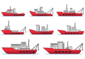 Set Of Tugboat Vector