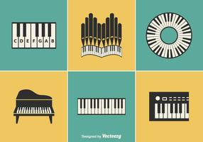 Free Keyboard Instrument Vector Designs