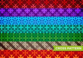 Vecteur de motif de croix maltaise