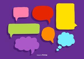 Vectores de llamada de burbuja de discurso