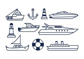 Free Nautical Icons vector