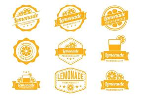 Vecteurs de badge à la limonade