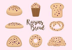 Vecteurs de pain à raisins libres