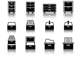 Free File Cabinet Icons Vector