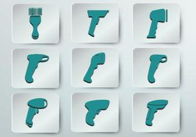 Barcide scanner icon vector size.