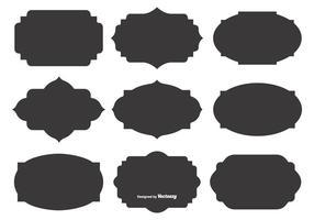 Formas en blanco de la etiqueta del vector