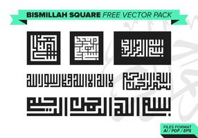 Bismillah Square Vector Pack