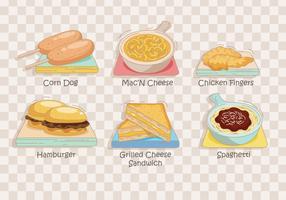 Vector de menu pour enfants