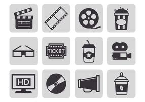 Free Cinema Icons Vektor