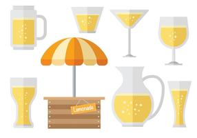 Lemonade stand icons Vector