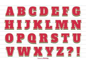 Mignon alphabet de vecteur d'été