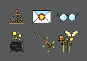 Outline Icon pack of wizard tools