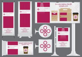 Gourmet Food Banners vector