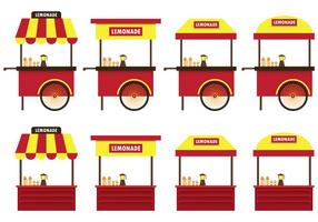 Set of Lemonade Stand Vector