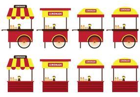 Set Van Lemonade Stand Vector