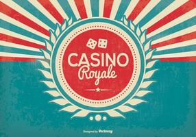Retro Style Casino Royale Illustratie