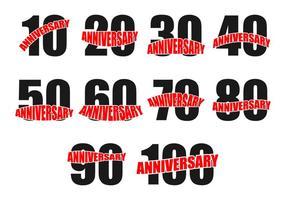 vettore dell'icona di anniversario gratis