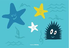 Vetores de criaturas do mar