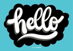 Hallo script lettering vector