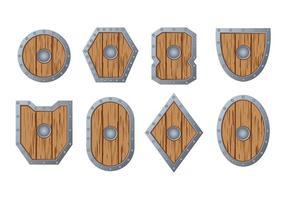 Bárbaro escudo vector
