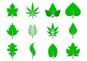 Vecteur d'icônes de feuilles libres