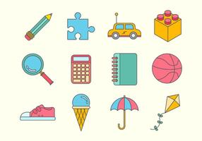 Free Kids Stuff Vector Icons