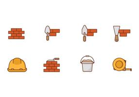 Icons Brick Layer Vector