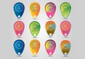 Färgrik Försäljning Erbjudande Bubblor Vektor