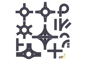 Gratis rondell och vägvägvektor