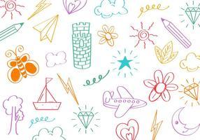 Vector Doodle de coisas para crianças grátis