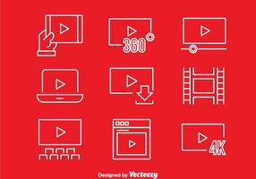 Movie Player Icons  vector