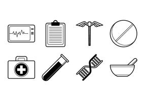 Medical Stuff Icon Vector