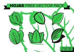Hojas gratis vektorpaket