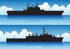 Free vector Flugzeugträger Set