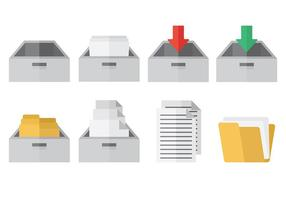 File Cabinet Icons Vector