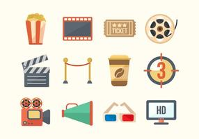 Cinema Movie Vector Icons