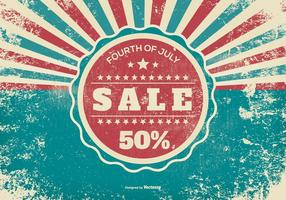 Grunge Fourth of July Sale Illustration