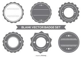 Blank Vector Badge Set