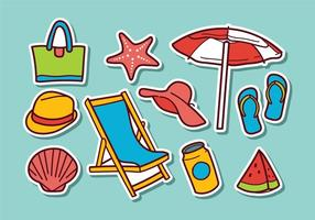 Free Beach Sticker Vectors