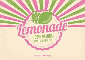 Illustration naturelle de la limonade