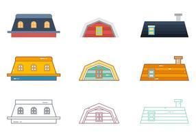 Vetor livre de telhados 4