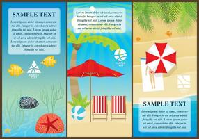 Beach Flyers vector