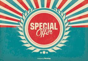 Offre spéciale promotionnelle Retro Background