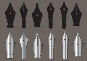 Pen Nib Vector Set