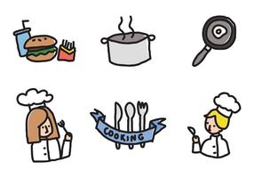 Kinderen Koken Pictogrammen