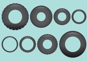 Vectores de los neumáticos del vehículo