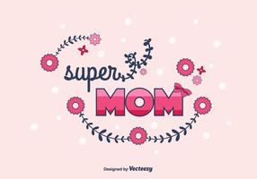 Super-mom-vector-background