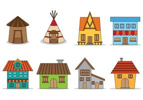 Set Of Shack Vector